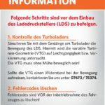 Technische Info für Turboladerreparatur